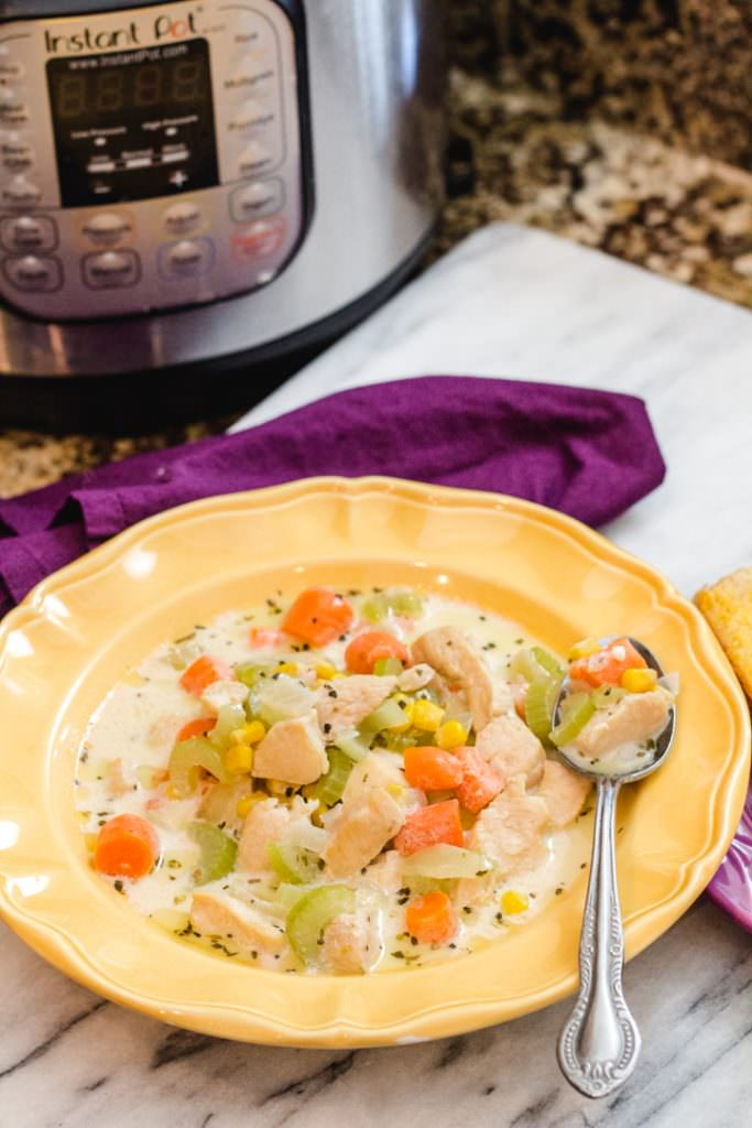 Chicken Corn Chowder Instant Pot Recipe