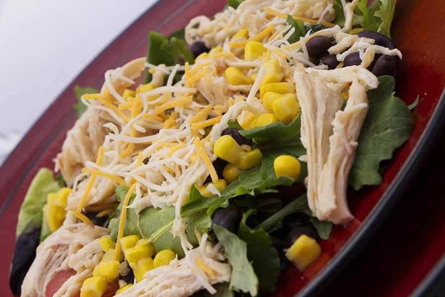 Southwestern Salad Shredded Chicken