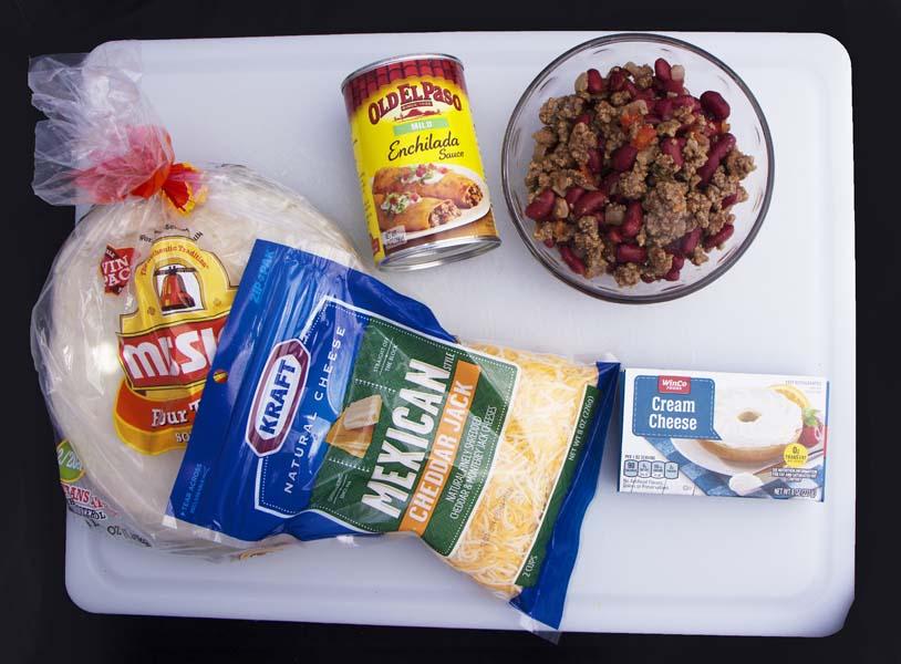 Hamburger Enchiladas ingredients