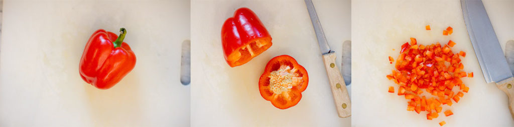 Cutting Bell Pepper