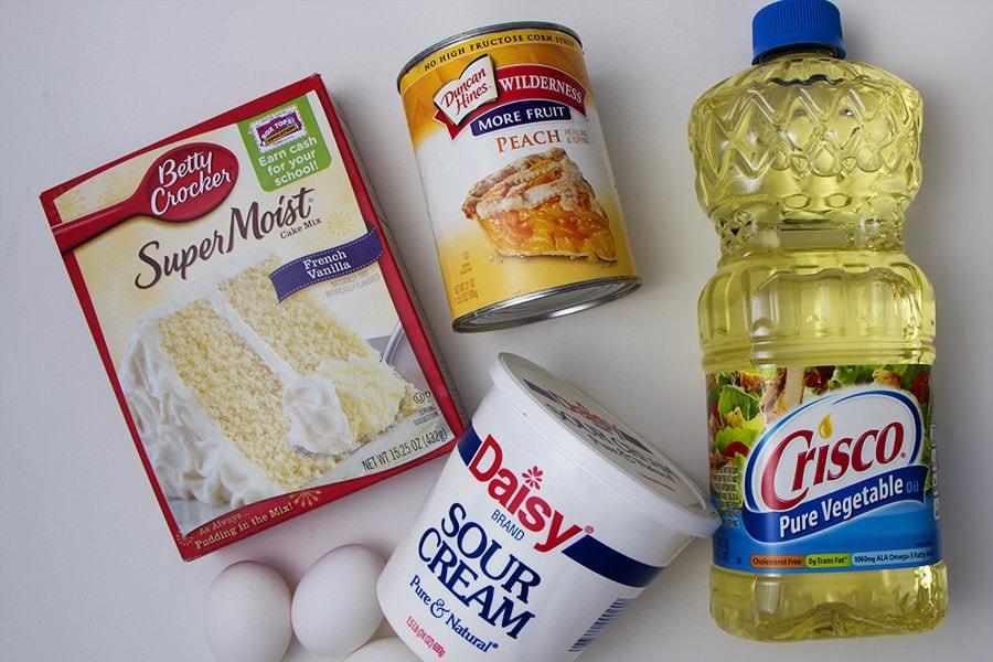 Sour Cream Peach Bunt Cake Ingredients