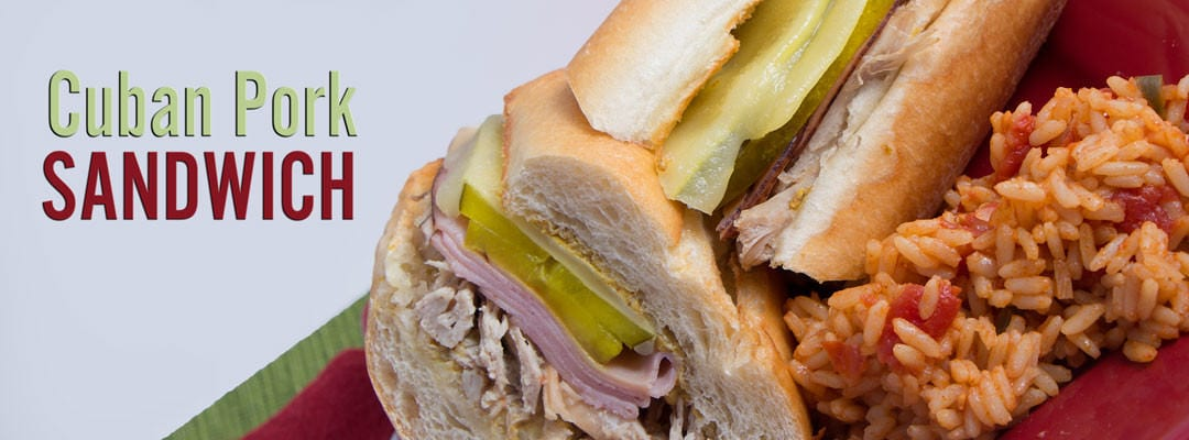 Delicious Cuban Pork Sandwich