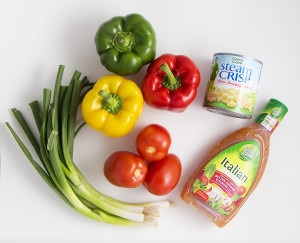 Zesty Fresh Salsa Ingredients