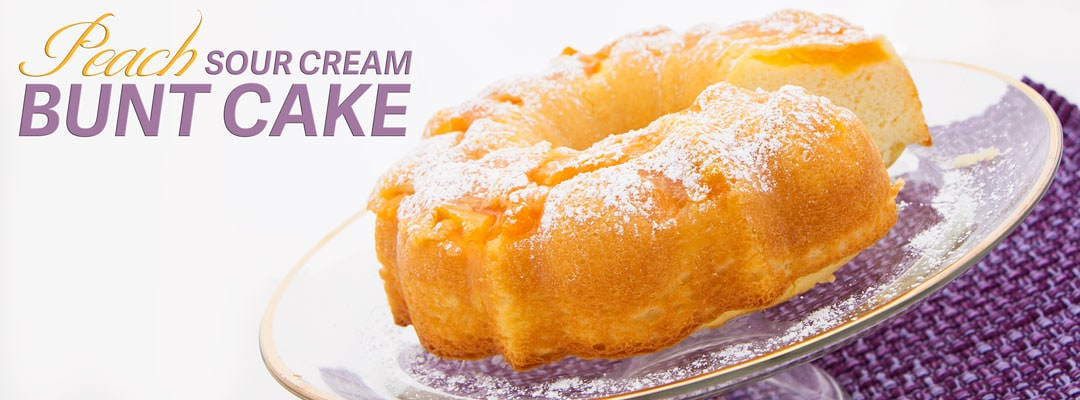 Peach Sour Cream Bunt Cake