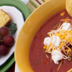 Taco Soup and Sour Cream Corn Bread