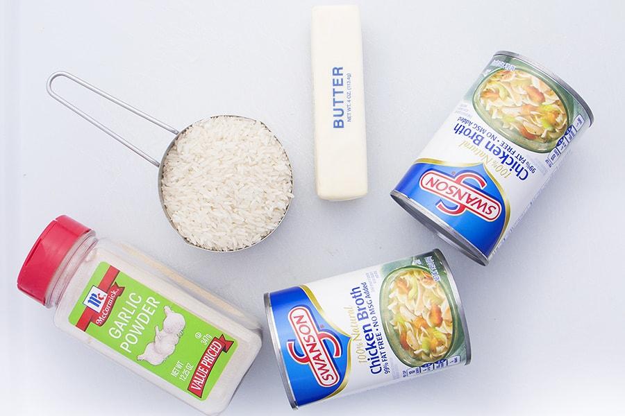 Savory Rice Ingredients