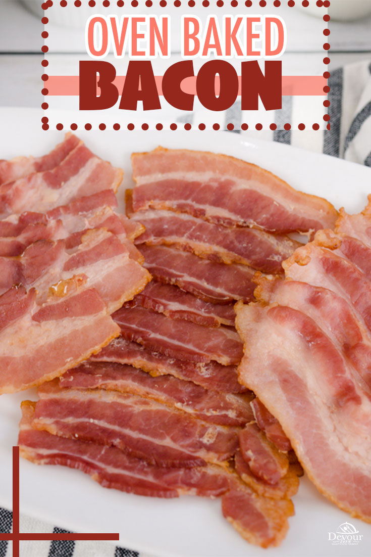 Cook bacon in the Oven is easy with little mess and a quick clean up. Perfect for breakfast or to use in recipes, it's perfect every time. These quick and easy steps will have you loving Bacon again. I sure appreciate how easy the clean up is after the meal is over with these quick and easy tips. #devourdinner #devourpower #whatsfordinner #howto #howtobakebacon #ovenbakedbacon #familyrecipe #food52grams #whatsonmyplate #simplerecipes #tastemade #huffposttaste #bacon #cookedbacon #baconrecipes