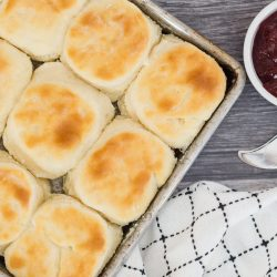 Sour Cream Biscuit in pan