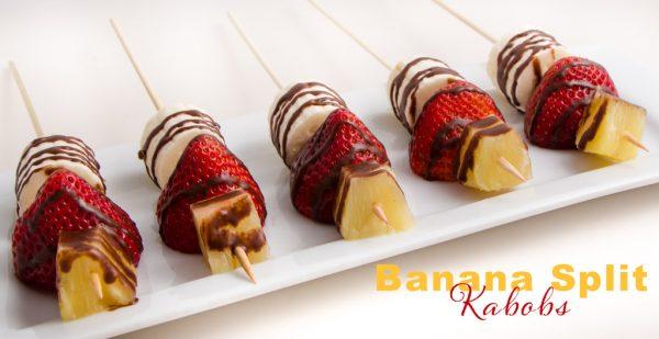 Banana Split Kabob