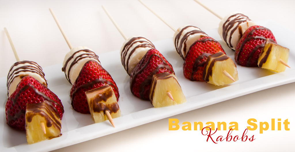 Easy Banana Split Kabobs