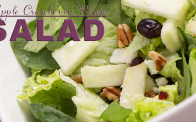 Fall Apple Cranberry Pecan Salad