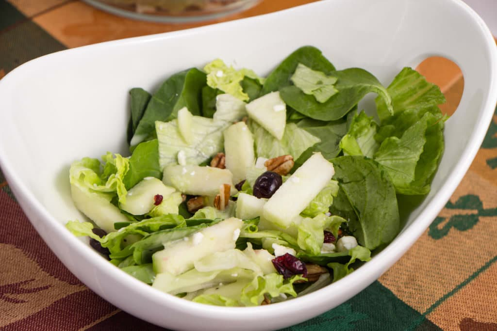 Fall Apple Cranberry Pecan Salad