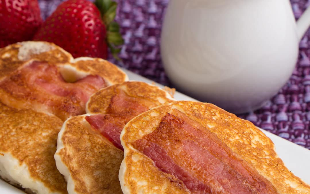 Easy to make Bacon Pancake Dippers