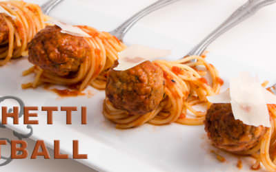 Spaghetti and Meatball Appetizer
