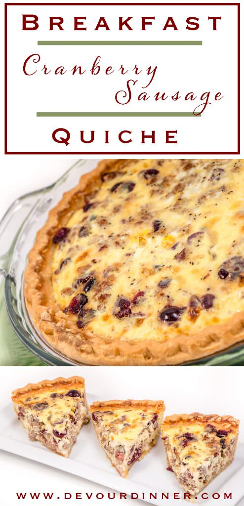 Sausage Quiche with Cranberries