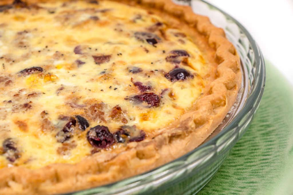 Sausage Cranberry Quiche
