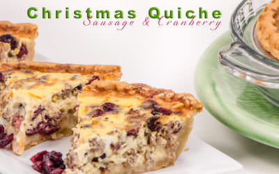 Christmas Quiche – Sausage and Cranberry
