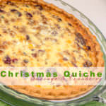 Christmas Quiche with Sausage and Cranberry