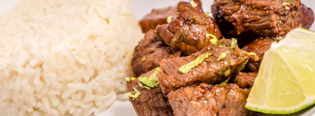 Honey Lime Steak Bites