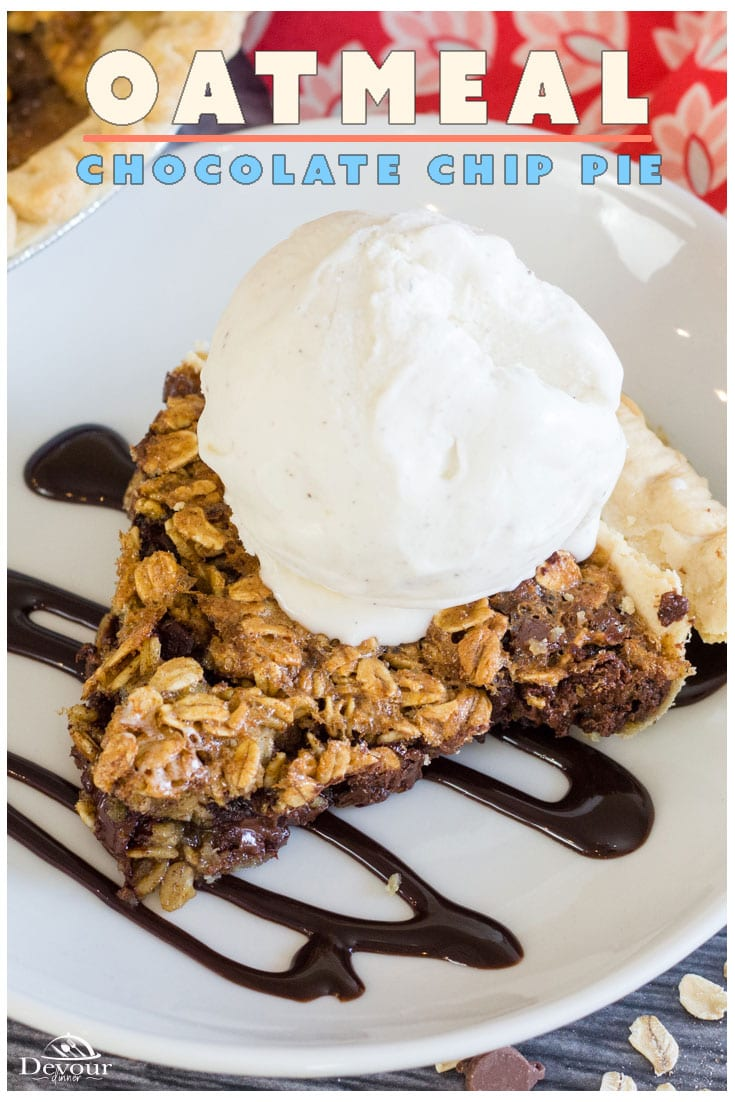 Chocolate Chip Cookie Pie is a 100% success Easy Recipe! I've served this pie to hundreds of guests over the years and hands down a FAVORITE Pie Recipe. Takes only a couple minutes to whip up and get in the oven. This recipe is made for holidays and I always keep the ingredients handy just because. #devourdinner #devourpower #Piday #Pieday #Chocolatechip #Chocolatechippie #food #Foodie #Recipe #recipes #Desserts #CookiePie #March14 #NationalPieDay #NationalPiDay #easyrecipe #Yummy #devourpower