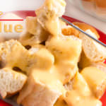 Cheese Fondue, a timeless classic recipe and family favorite for New Years Eve #appetizerrecipe #newyearseverecipe #newyearseve #fondue #cheesefondue #bread #Cheese #Appetizer #yum