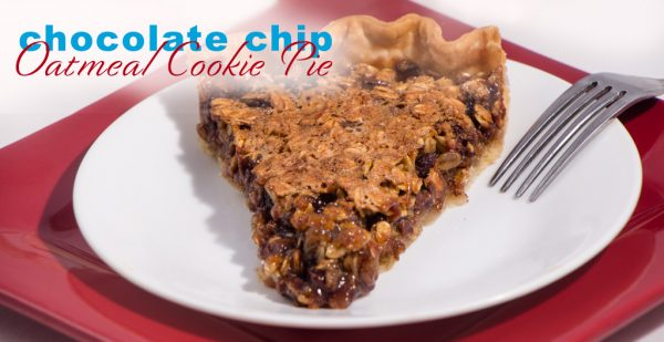 Oatmeal Chocolate Chip Cookie Pie