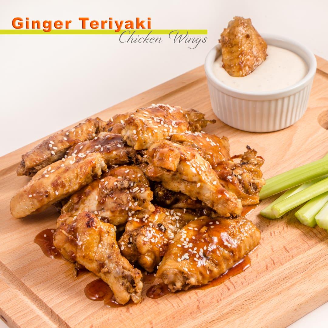 Teriyaki Ginger Chicken Wings | Instant Pot Recipe