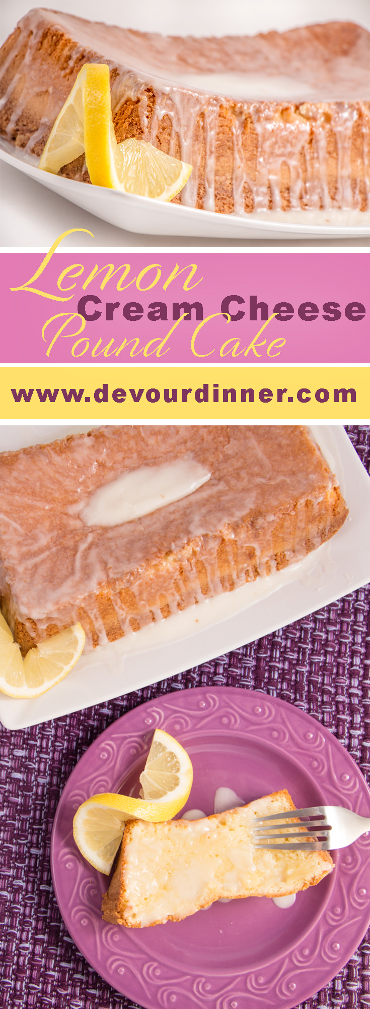 Lemon Cream Cheese Pound Cake! Try out this easy dessert! Baked Lemon Cream Cheese Pound Cake bakes for about an hour and is velvety just as a pound cake should be. #dessertrecipes #dessert #poundcake #Recipe #recipes #food #foodie #treat #easyrecipe #bake #Bakeddessert #Lemon #Lemonpoundcake #yum #yummy #easydessertrecipe #foodiefriday