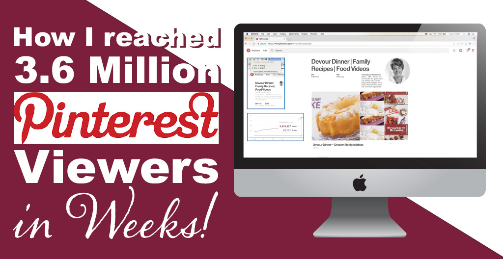 How I grew my Pinterest Viewers to over 3.6 Million