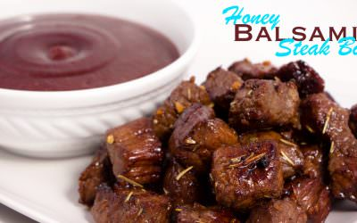 Honey Balsamic Steak Bites