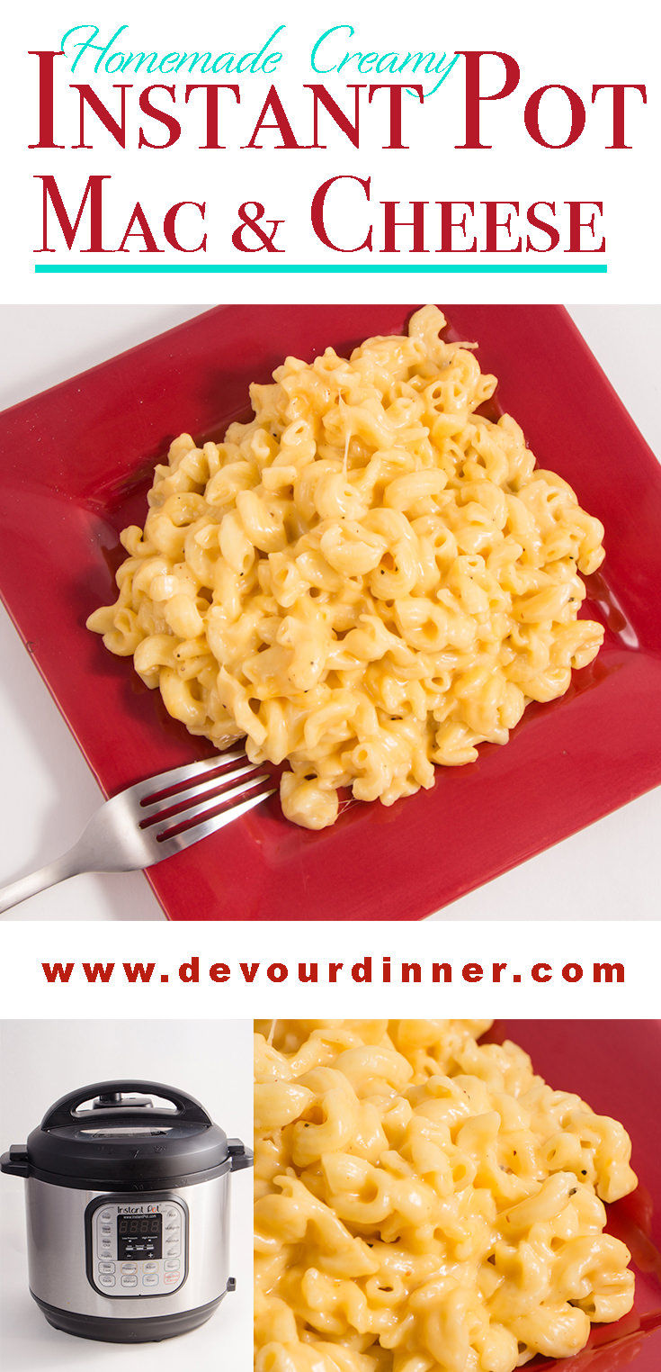 Mac & Cheese | Instant Pot Recipe - Devour Dinner Easy to make Macaroni and Cheese in the Pressure Cooker. Kid Approved recipe and family friendly. Just like Grandma used to make. #InstantPot #MacandCheese #Delicious #Yummy #Recipe #Recipes #Food #foodie #Devourdinner #Foodblogger #Buzzfeast #pasta #macandcheeserecipe #easyrecipe #kidapproved via @devourdinner