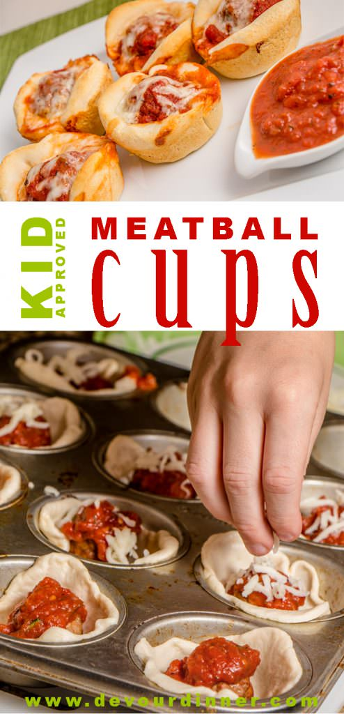 Meatball Cups Appetizer Kid approved recipe