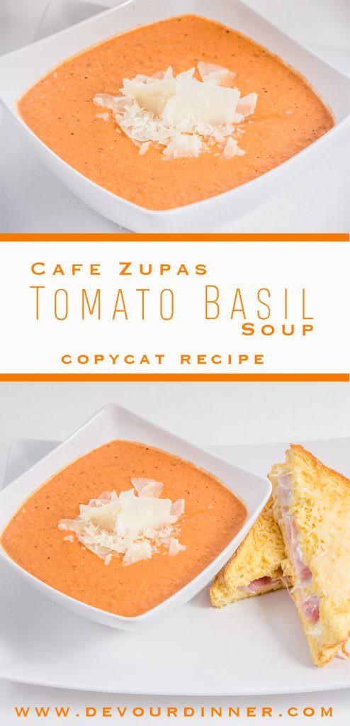 Tomato Basil Soup Copy Cat Recipe Cafe Zupas