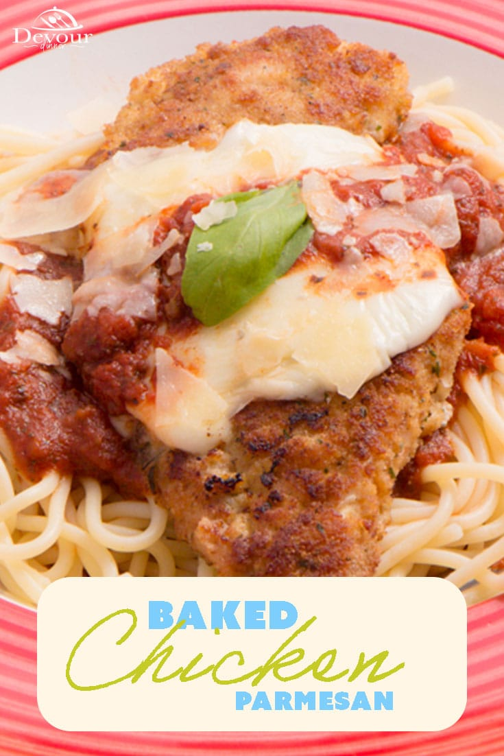 My Picky eater devoured this and asked for more! Chicken Parmesan, made in 30 minutes. It's delicious and super simple to make. Watch my tutorial video to see how easy this comfort food is to make at home. #chicken #chickenparmesan #easyrecipe #easydinnerrecipe #dinner #devourdinner #food #recipes #dinner #recipe #chickenparmesan #parmesan #organic #allnatural #nopreservatives #yum #dinnerrecipe #easyrecipe #italianrecipe #Chickenparmigana #pasta #recipe #recipes #recipeoftheday #yum #yummy