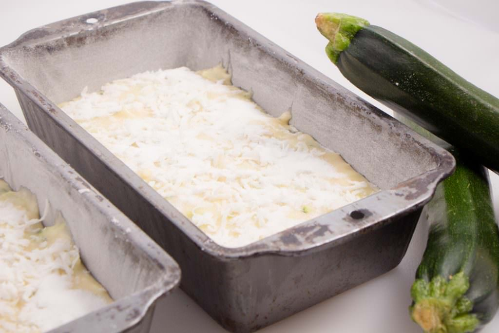 Zucchini Bread in Bread Pans ready to bake