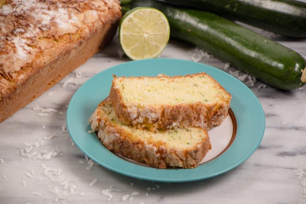 Zucchini Coconut Lime Quick Bread