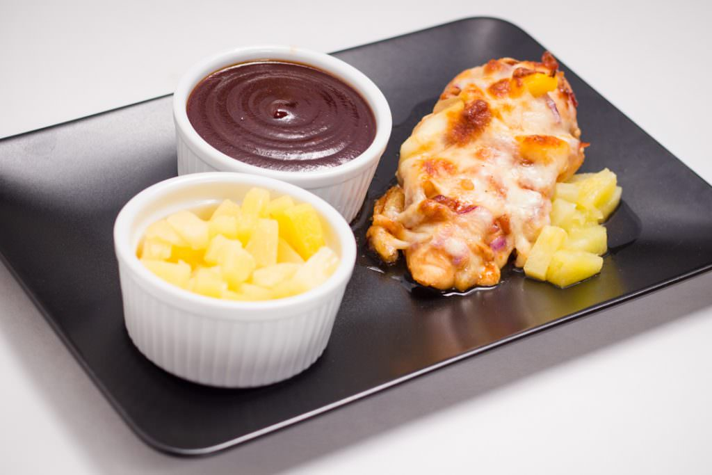 BBQ Chicken with BBQ Sauce and Pineapple