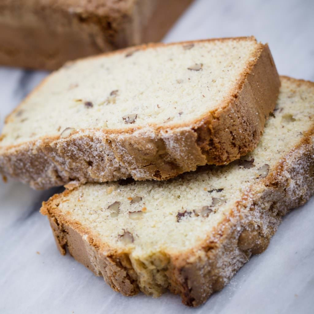 Sweet Banana Bread Slices