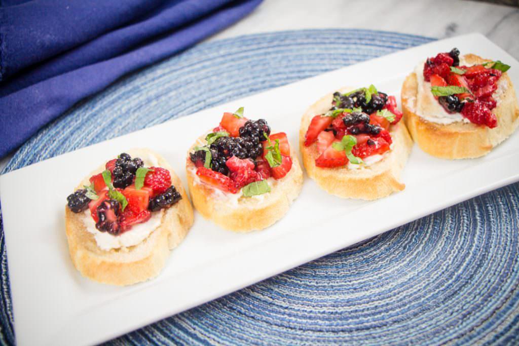 Easy Bruschetta with Fruit
