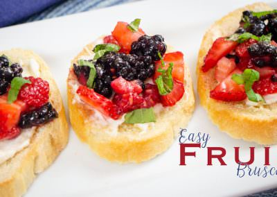 Easy Fruit Bruschetta