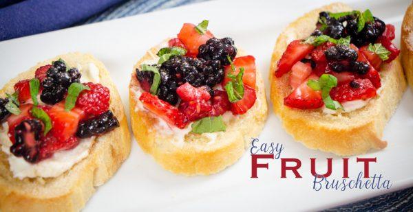 Easy Fruit Bruschetta