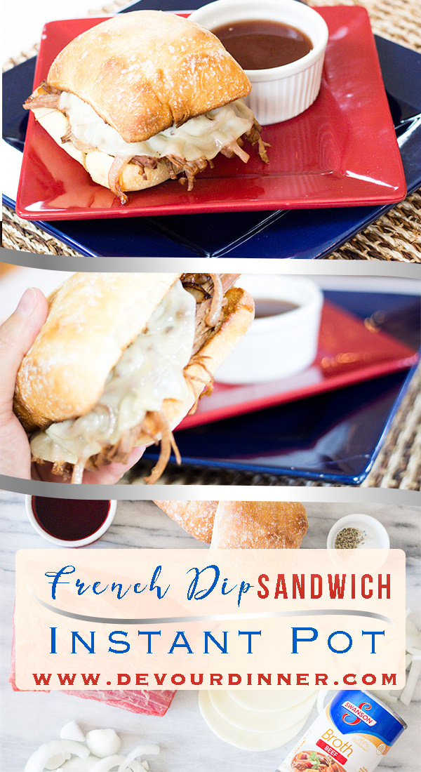 I LOVE French Dip Sandwiches and this #Instant Pot Recipe is perfect. I'm asked for this recipe over and over. I love the toasty roll with tender cuts of beef dipped in Au Jus. Perfect for lunch or dinner. #easyrecipe #beef #roast #foodie #shreddedbeef #yum #frenchDip #frenchdipsandwich #frenchDipRecipe #DinnerRecipe #EasyDinner . #EasyPrep #InMyKitchen #Food #recipe #recipes #devourdinner #InstantPot #InstantpotRecipe #instagood