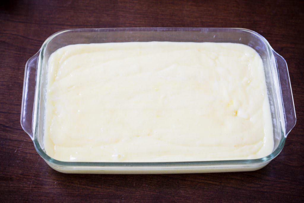 Lemon Bar Mixture before baking