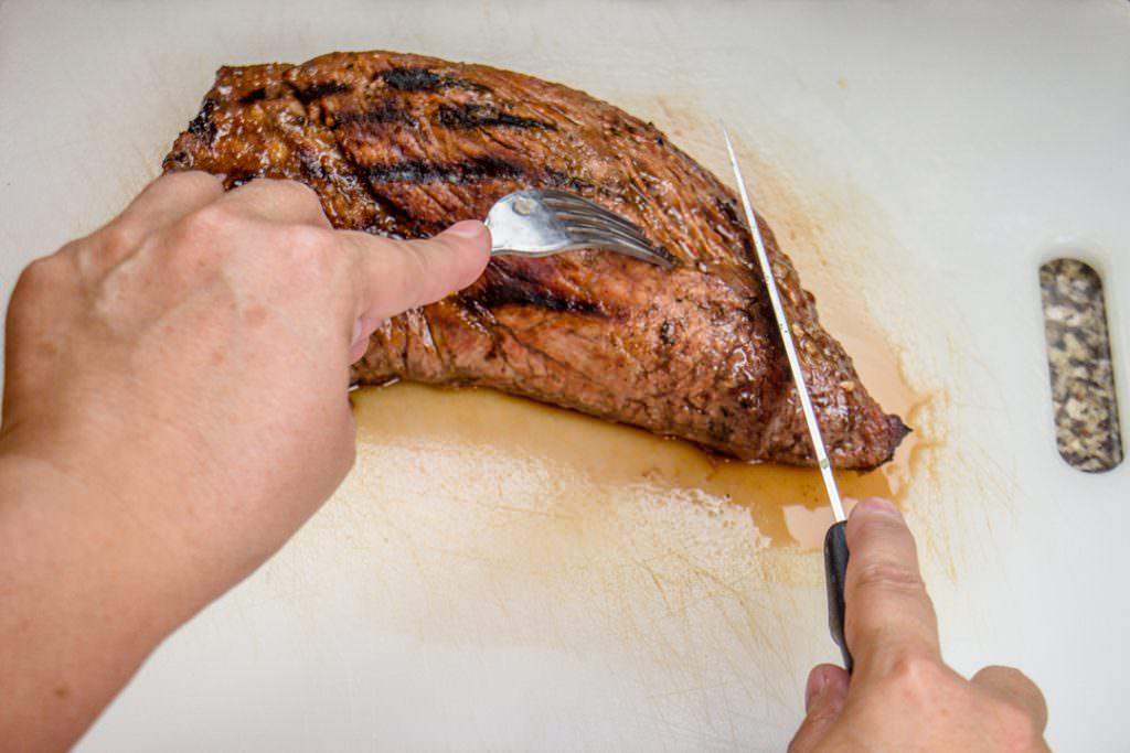 Slice Tri Tip Roast