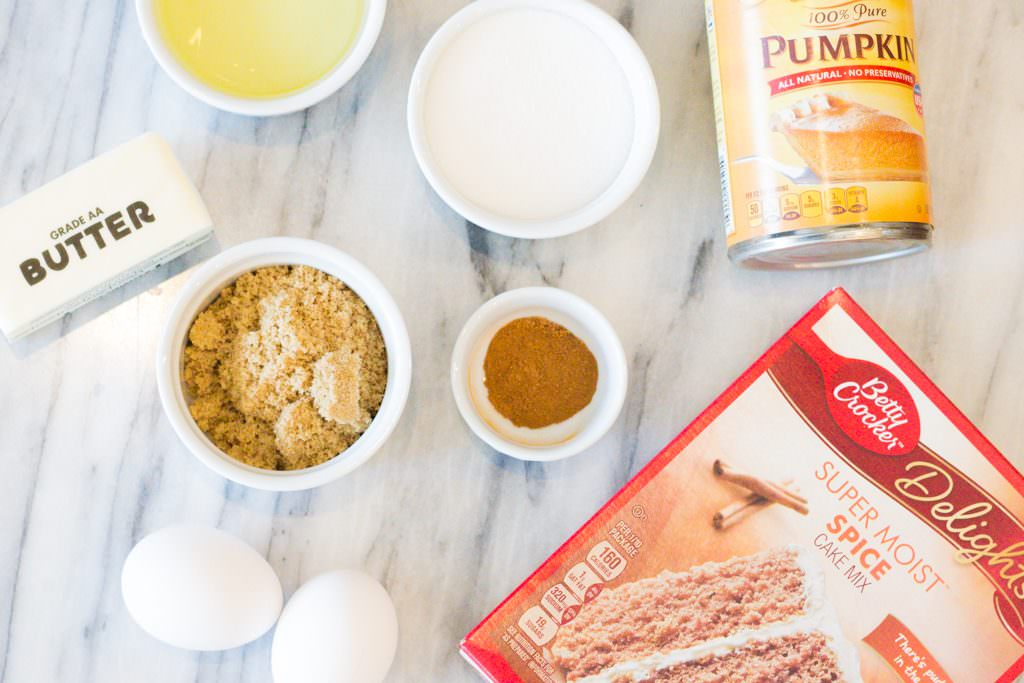 Pumpkin Spice Muffin Ingredients