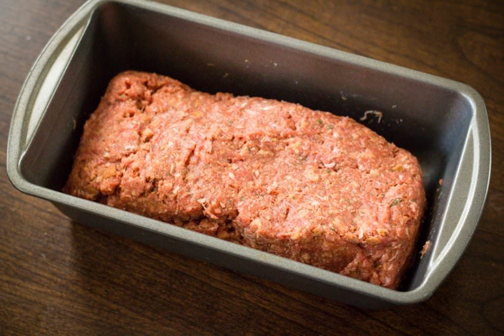 Stove Top Meatloaf in pan to bake