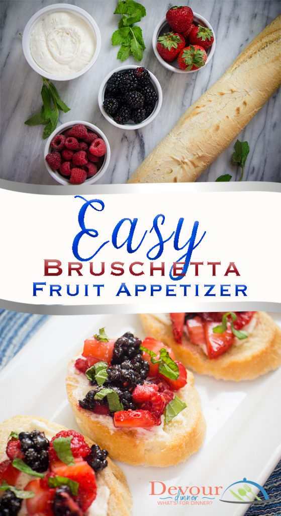 Fruit Bruschetta made Easy Appetizer #appetizer #bruschetta #fruitbruschetta #easyrecipe #fruit #devourdinner