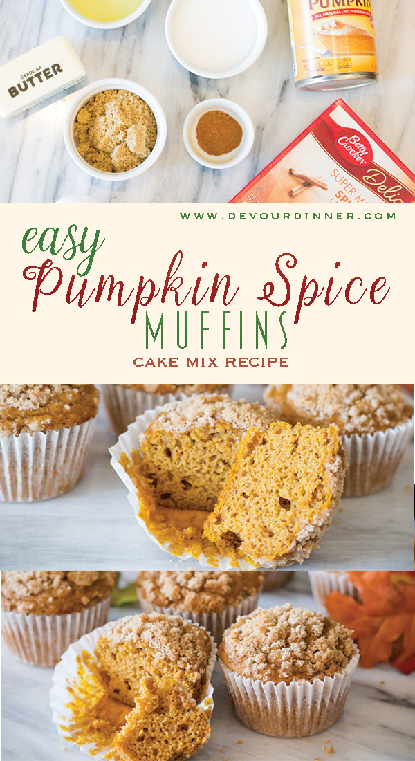 I make these Pumpkin Spice Crumble Muffins and my family and friends can't get enough of them. So simple to make, and makes your home smell like Fall and Pumpkin Spice. These are so good for an after school snack, or treats to the neighbors. So Good! #PumpkinSpice #pumpkinSpiceMuffins #pumpkinMuffins #BreadRecipe #dessert #DessertRecipe #easyDessert #EasyRecipe #recipe #recipes #DevourDinner #FallDessert #FallSnack #easyPrep #InMyKitchen #funFamily #treat via @devourdinner