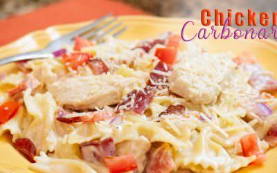One Pot Creamy Chicken Carbonara