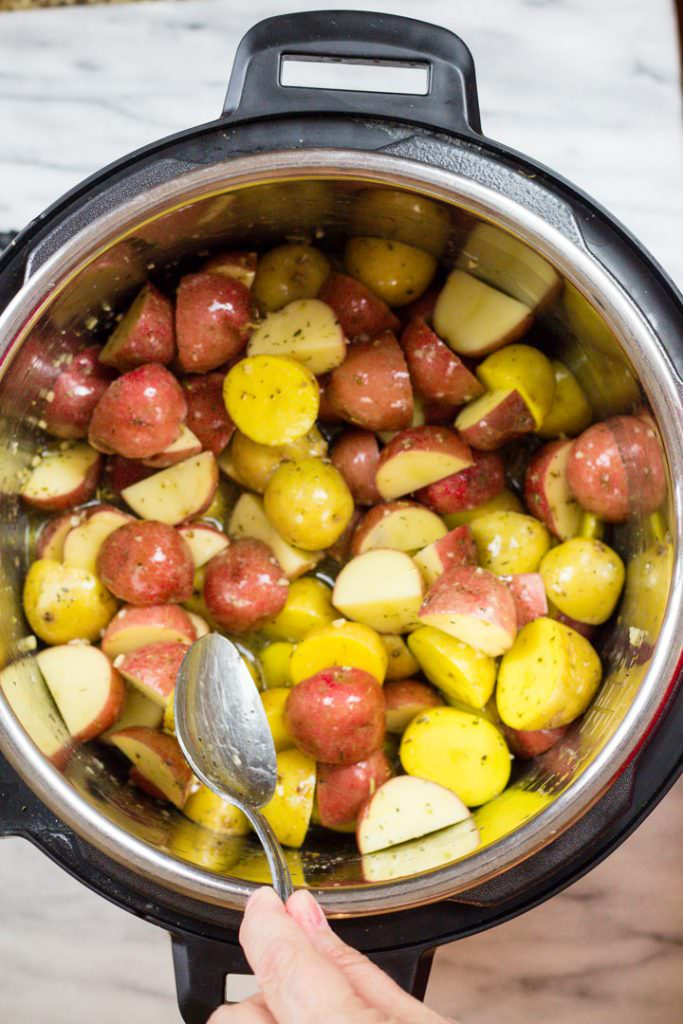 Garlic Roasted Instant Pot Potatoes